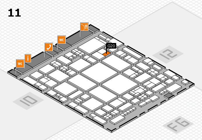 glasstec 2016 hall map (Hall 11): stand G20