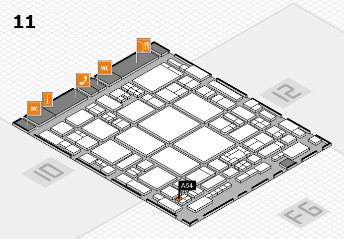 glasstec 2016 hall map (Hall 11): stand A64