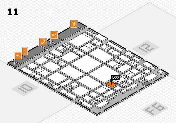 glasstec 2016 hall map (Hall 11): stand D60