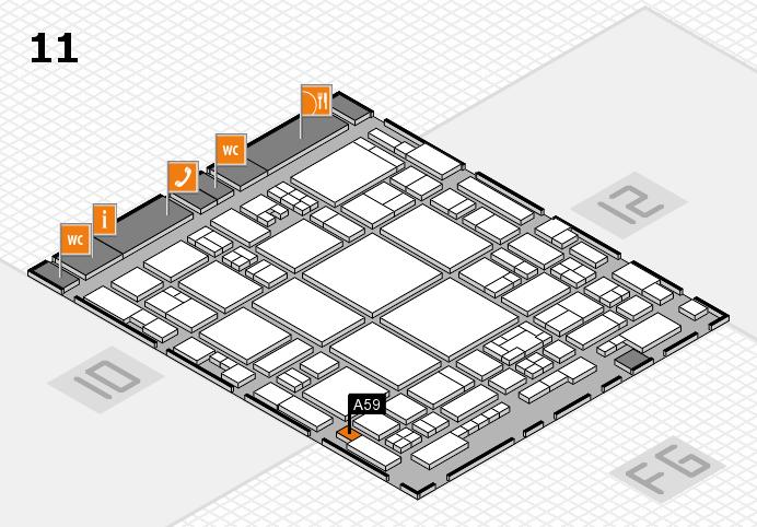 glasstec 2016 hall map (Hall 11): stand A59