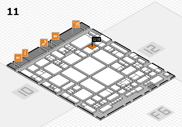 glasstec 2016 hall map (Hall 11): stand G18