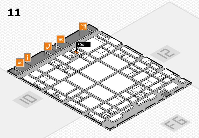 glasstec 2016 hall map (Hall 11): stand F04-1