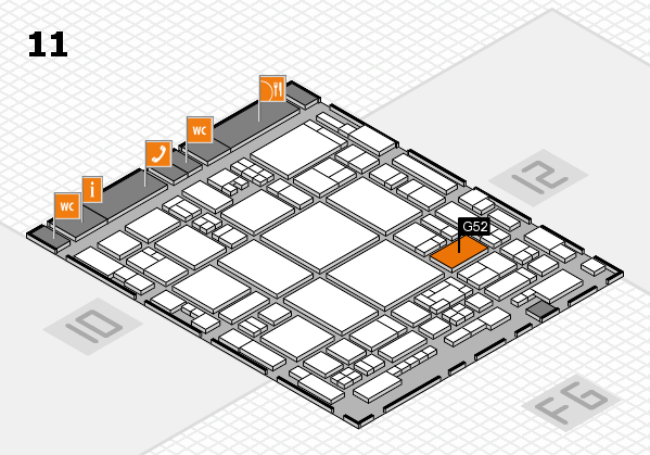 glasstec 2016 hall map (Hall 11): stand G52