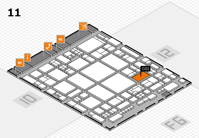 glasstec 2016 hall map (Hall 11): stand G52