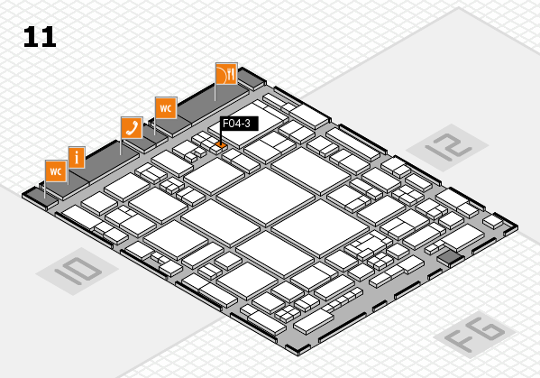 glasstec 2016 hall map (Hall 11): stand F04-3