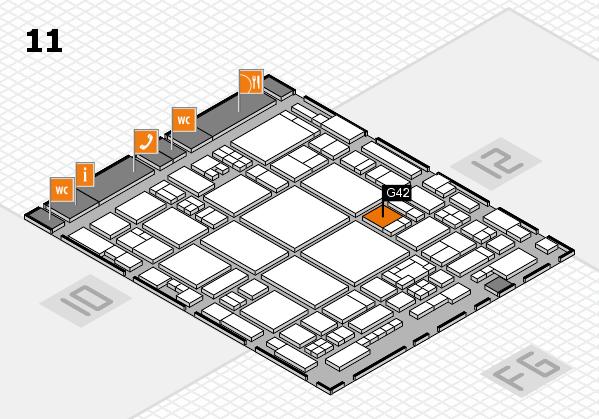 glasstec 2016 hall map (Hall 11): stand G42