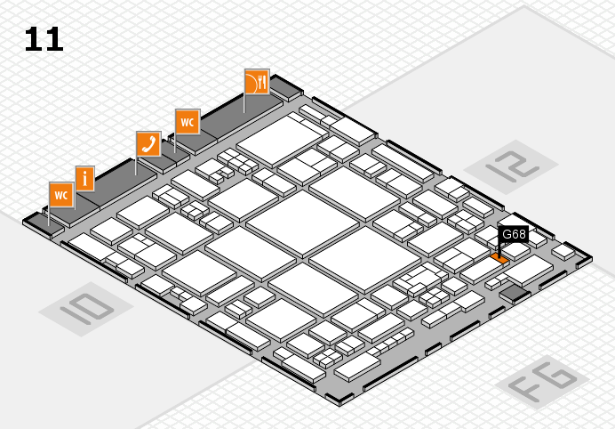 glasstec 2016 hall map (Hall 11): stand G68