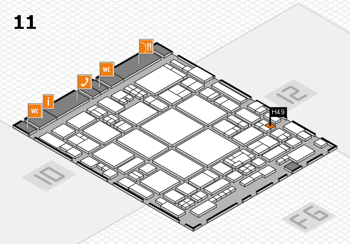 glasstec 2016 hall map (Hall 11): stand H49