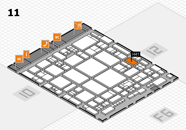 glasstec 2016 hall map (Hall 11): stand H41
