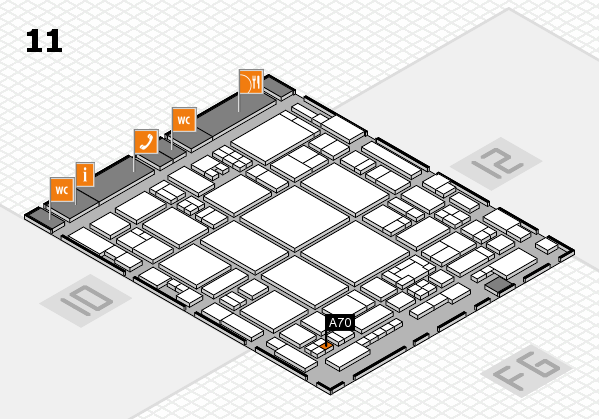 glasstec 2016 hall map (Hall 11): stand A70