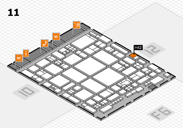 glasstec 2016 hall map (Hall 11): stand H42