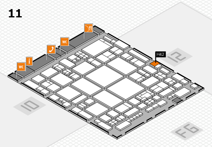 glasstec 2016 hall map (Hall 11): stand H42