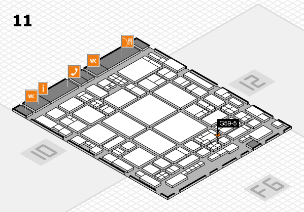glasstec 2016 hall map (Hall 11): stand G59-5