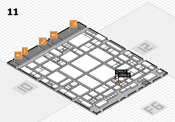 glasstec 2016 hall map (Hall 11): stand G59-2