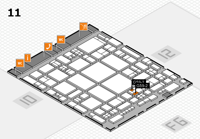 glasstec 2016 hall map (Hall 11): stand G59-2