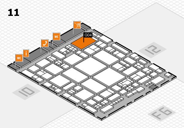 glasstec 2016 hall map (Hall 11): stand G04