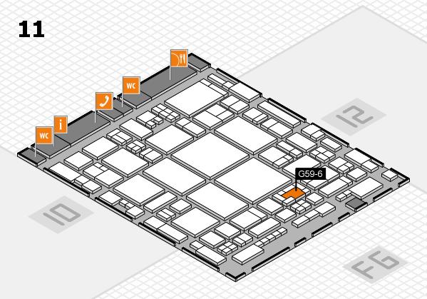 glasstec 2016 Hallenplan (Halle 11): Stand G59-6