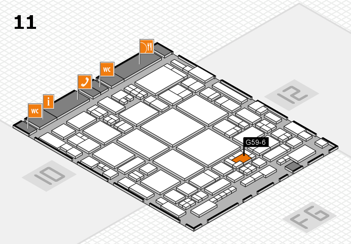 glasstec 2016 hall map (Hall 11): stand G59-6