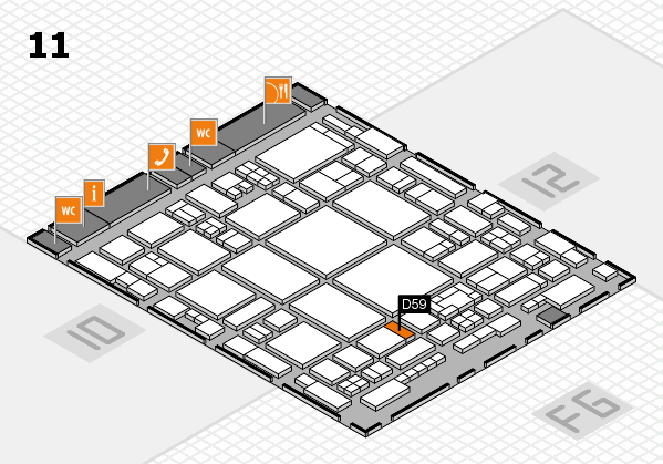 glasstec 2016 hall map (Hall 11): stand D59