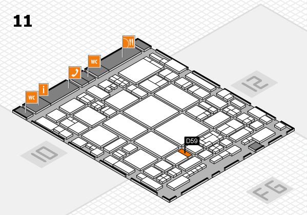 glasstec 2016 Hallenplan (Halle 11): Stand D59