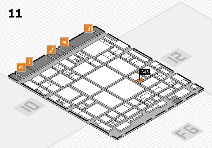 glasstec 2016 hall map (Hall 11): stand G46