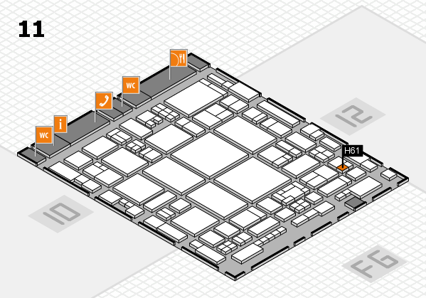 glasstec 2016 hall map (Hall 11): stand H61
