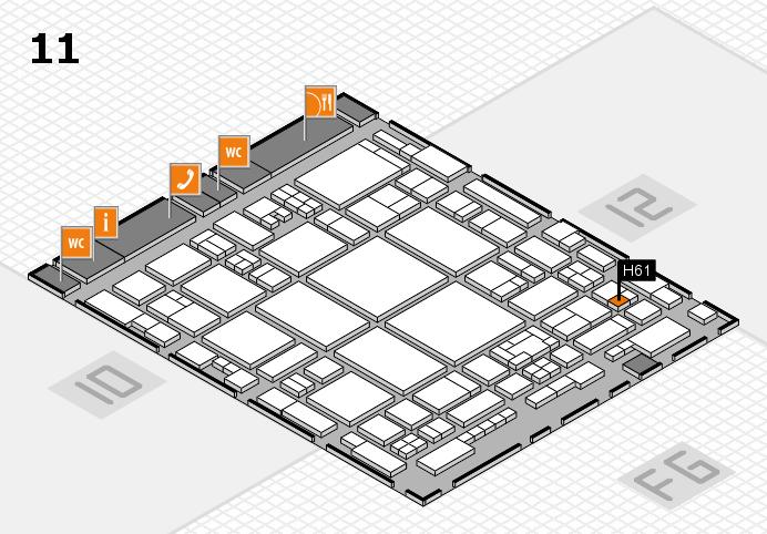 glasstec 2016 Hallenplan (Halle 11): Stand H61