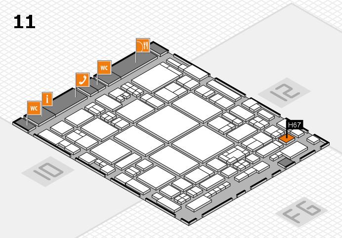 glasstec 2016 hall map (Hall 11): stand H67