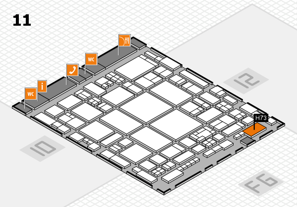 glasstec 2016 hall map (Hall 11): stand H73