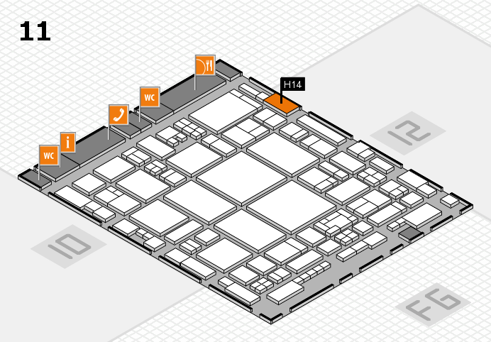 glasstec 2016 hall map (Hall 11): stand H14
