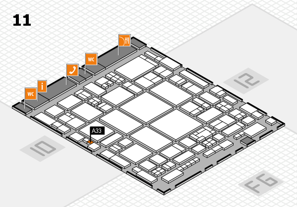 glasstec 2016 hall map (Hall 11): stand A33