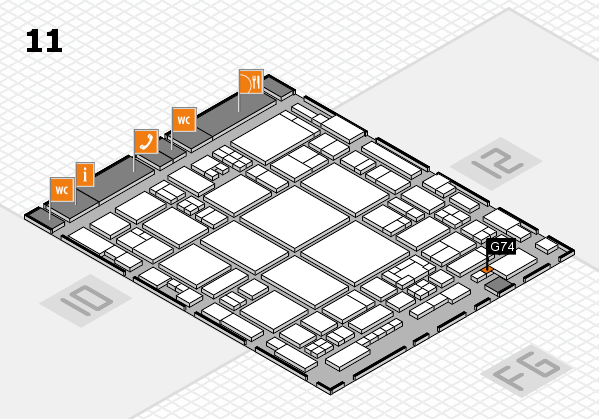 glasstec 2016 hall map (Hall 11): stand G74