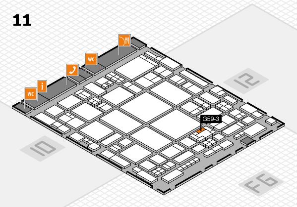 glasstec 2016 Hallenplan (Halle 11): Stand G59-3