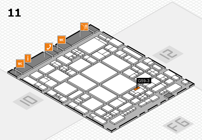 glasstec 2016 hall map (Hall 11): stand G59-3