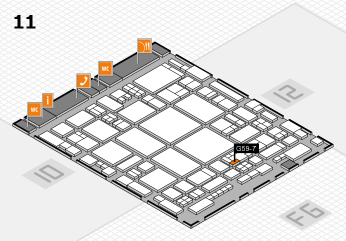 glasstec 2016 hall map (Hall 11): stand G59-7