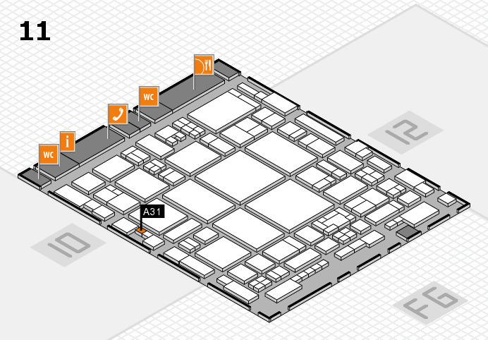 glasstec 2016 hall map (Hall 11): stand A31