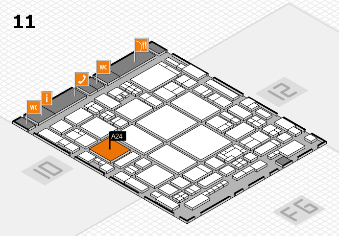 glasstec 2016 hall map (Hall 11): stand A24