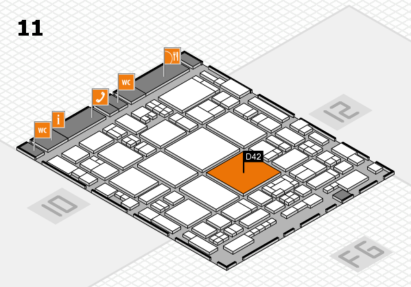 glasstec 2016 hall map (Hall 11): stand D42