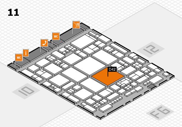 glasstec 2016 Hallenplan (Halle 11): Stand D42
