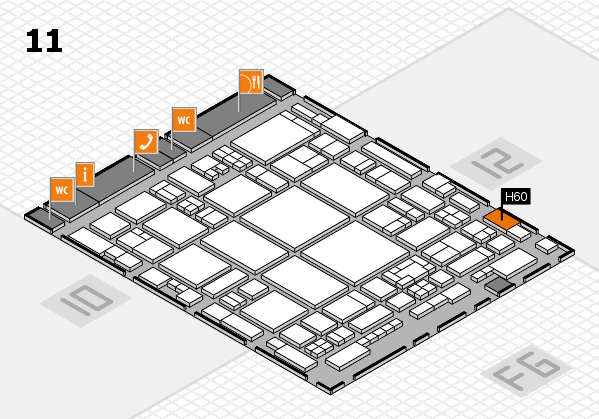 glasstec 2016 hall map (Hall 11): stand H60