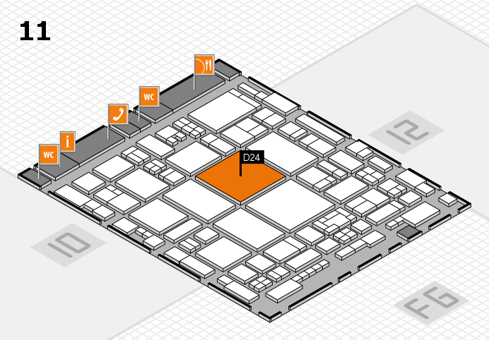 glasstec 2016 hall map (Hall 11): stand D24