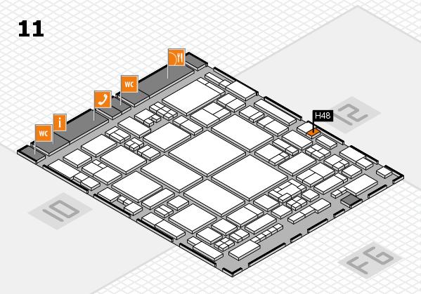 glasstec 2016 hall map (Hall 11): stand H48