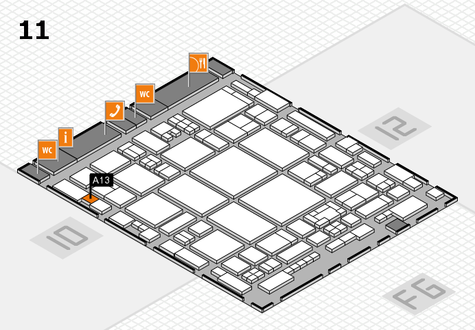 glasstec 2016 hall map (Hall 11): stand A13