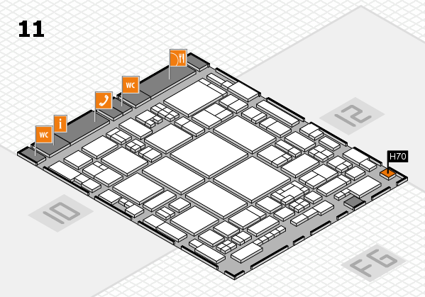 glasstec 2016 hall map (Hall 11): stand H70
