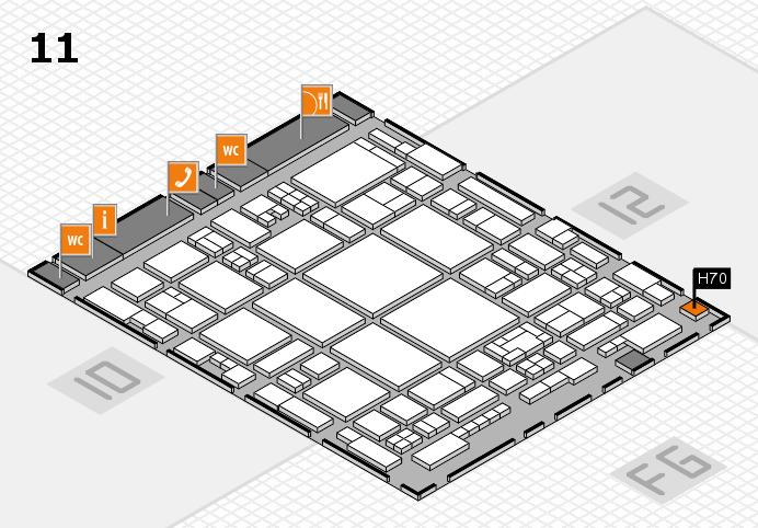 glasstec 2016 hall map (Hall 11): stand H70