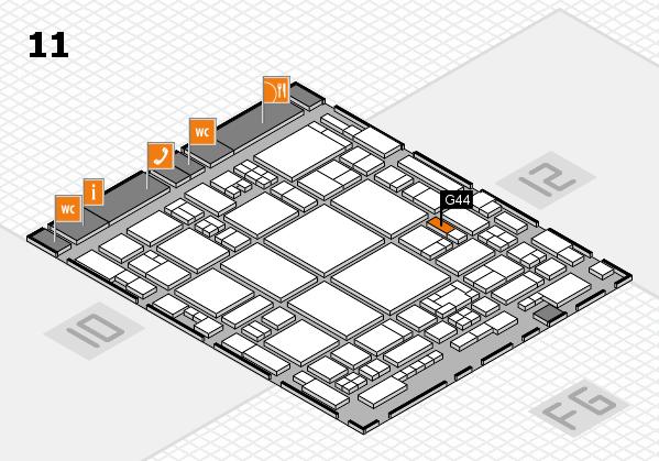 glasstec 2016 hall map (Hall 11): stand G44