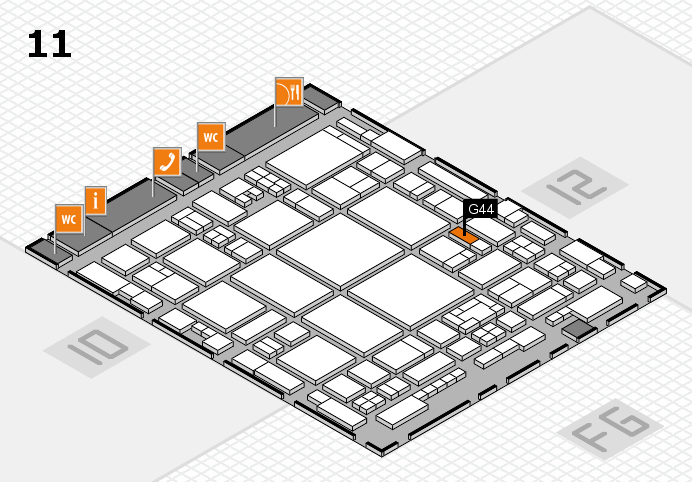glasstec 2016 hall map (Hall 11): stand G44