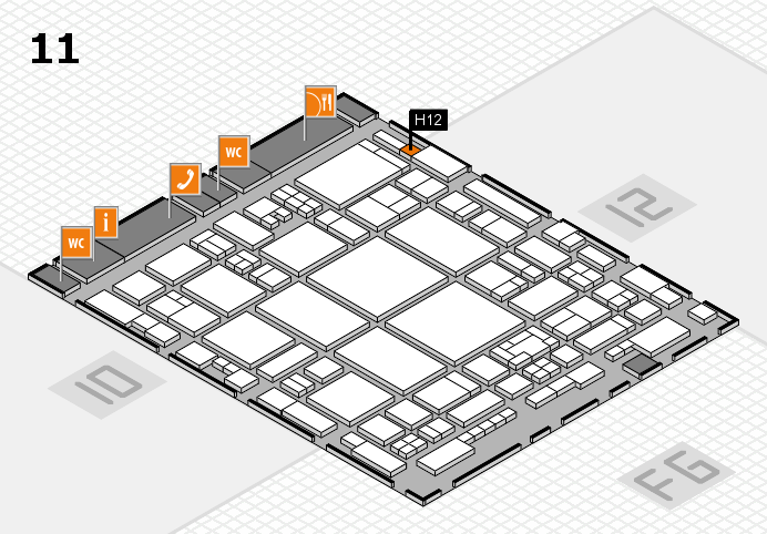 glasstec 2016 hall map (Hall 11): stand H12
