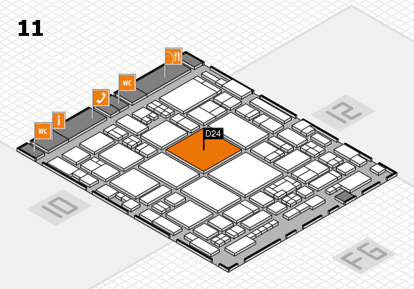 glasstec 2016 Hallenplan (Halle 11): Stand D24