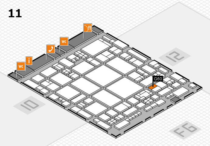 glasstec 2016 hall map (Hall 11): stand G60